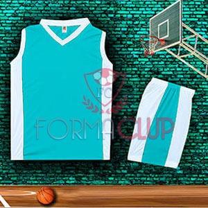 Basketbol Forması Mavi/Beyaz