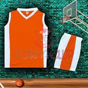 Basketbol Forması Turuncu/Beyaz
