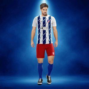 Atletico Madrid Sax Dijital Halı Saha Forma + Şort + Tozluk + Sınırsız Baskılar Dahil