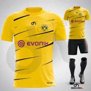 Borussia-Dortmunt Away Dijital Halı Saha Forma + Şort + Tozluk + Sınırsız Baskılar Dahil