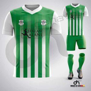 Salvador Beyaz-Yeşil Dijital Halı Saha Forma