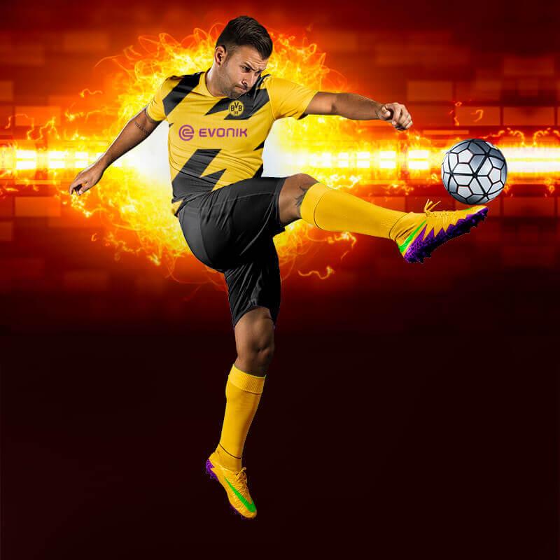 Borussia Dortmund Flash Dijital Halı Saha Forma