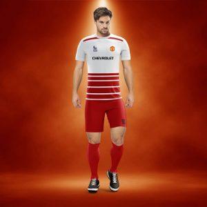 Real Beyaz-Kırmızı Dijital Halı Saha Forma