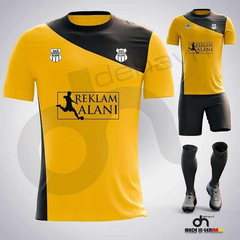 Pirate Sarı-Siyah Dijital Halı Saha Forma