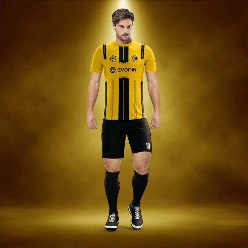 BVB Sarı-Siyah Dijital Halı Saha Forma