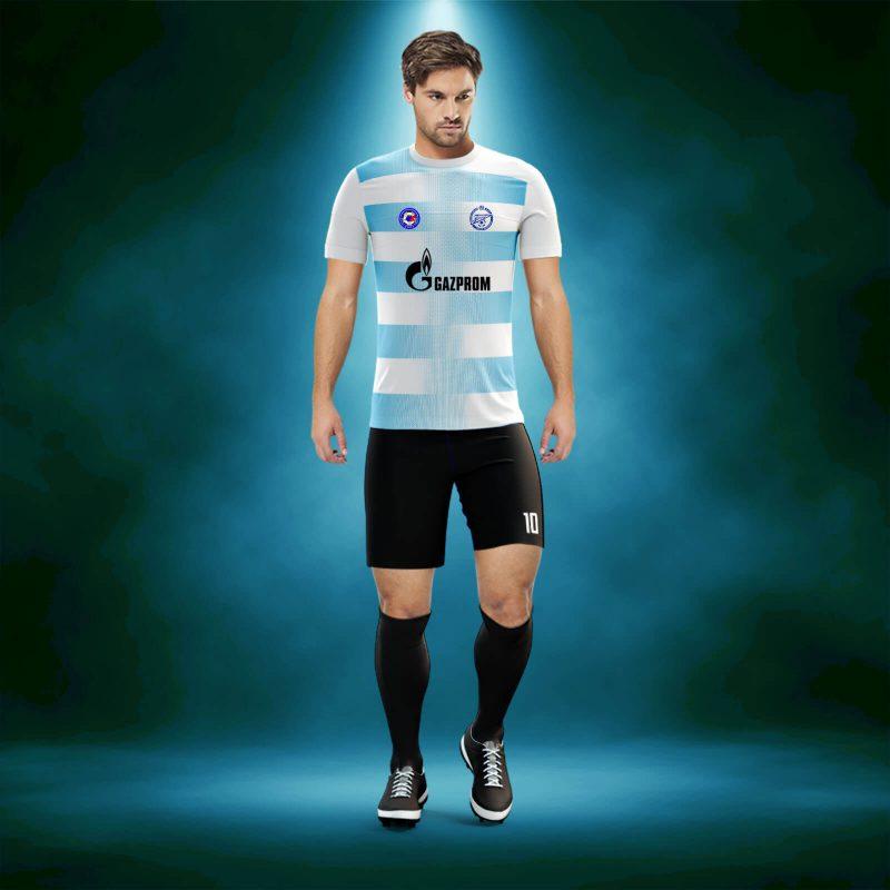 Dortmund Beyaz-Turkuaz Dijital Halı Saha Forma