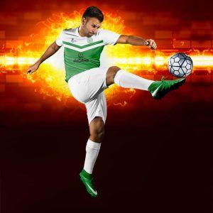 Victory Yeşil-Beyaz Dijital Halı Saha Forma