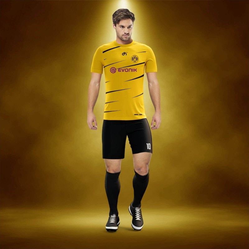 Borussia-Dortmunt Away Dijital Halı Saha Forma